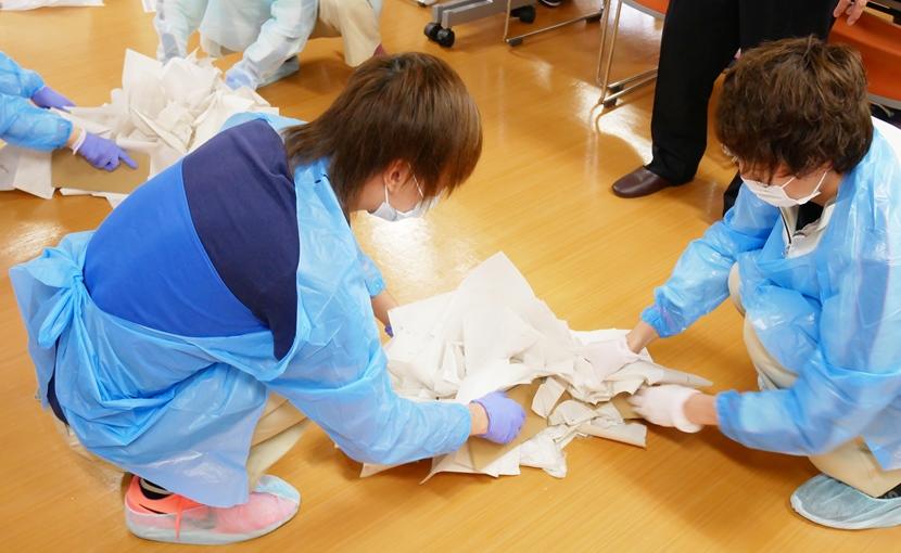 吐物処理研修